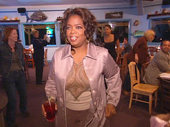 Oprah dines at the Fish 'N Pig.