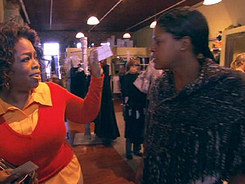 Oprah goes shopping in Macon.