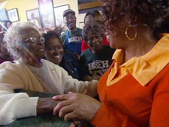 Oprah visited Macon's famous eateries.