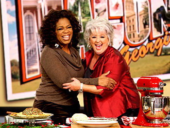 Paula Deen makes a cheese ball.