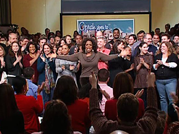 Oprah and her staff