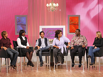 Ken Paves, Kimberly Kimble, Harry Josh, Oprah, Ted Gibson and Rita Hazan