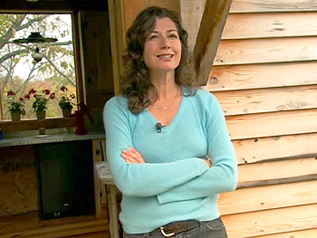 Amy Grant at her country cabin