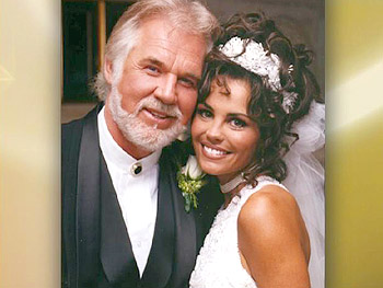 Kenny Rogers and Wanda on their wedding day