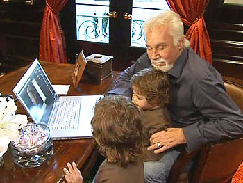 Kenny Rogers with his sons, Justin and Jordan