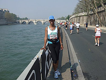 Leslie was inspired to run a marathon after reading Eat, Pray, Love.