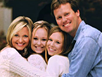 Richard Carlson with his family