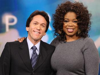 Mitch Albom and Oprah