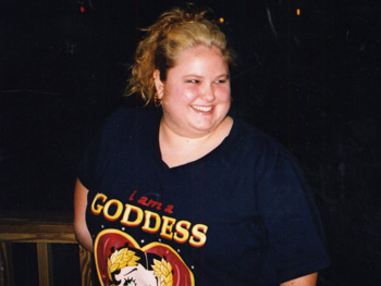 Jennifer, before her weight loss