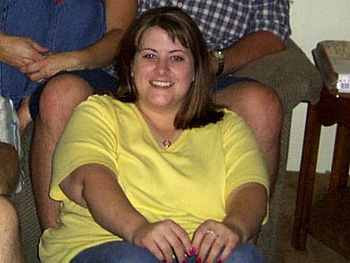 Christina, before her weight loss