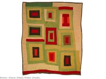 Housetop variation quilt by Lola Pettway