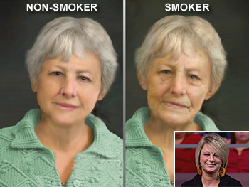 'Nonsmoking Aubrey' and 'smoking Aubrey'