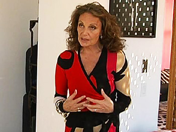 Diane Von Furstenberg in a wrap dress
