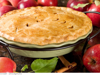 Double-crusted apple pie was a sign of aristocracy.