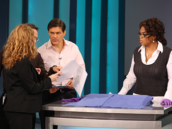 An Oprah Show producer, Dean, Dr. Oz and Oprah