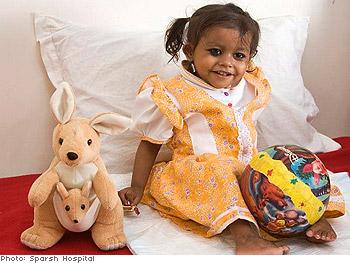 Lakshmi, after surgery