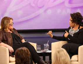 Patti Novak and Oprah