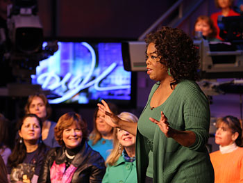 After a break, Oprah introduces the next segment of the show.