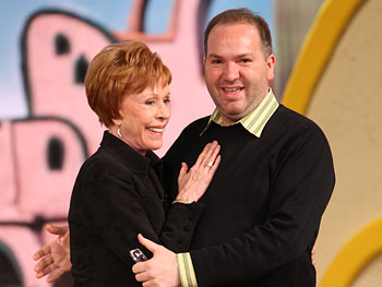 Brian meets his idol, Carol Burnett.