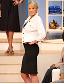 Skirt and white denim jacket