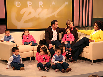 The Gosselin family with Oprah.