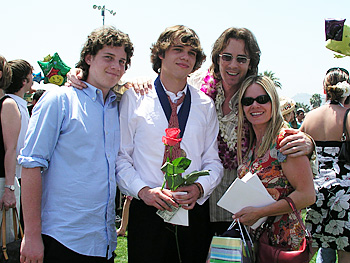 Rick Springfield and his family
