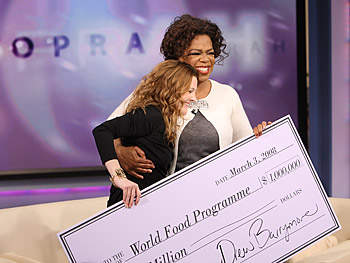 Oprah and Drew Barrymore