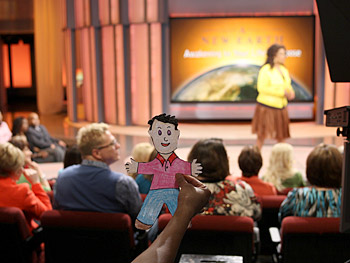 Flat Stanley makes his Oprah Show debut.