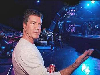 Simon on the new American Idol set