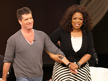 Simon Cowell and Oprah