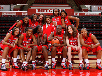 The Rutgers women's basketball team