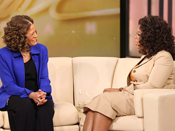 Coach Vivian Stringer and Oprah