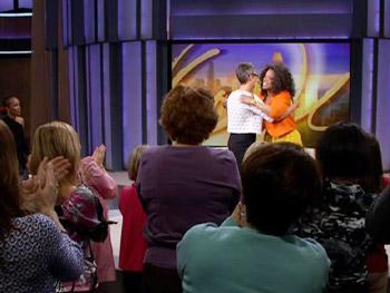 Oprah welcomes Jamie Lee Curtis.