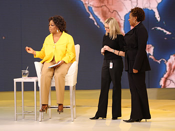 Oprah with producers Heather and Jill