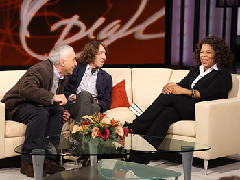 David and Nic Sheff and Oprah