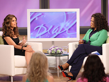 Maria Shriver and Oprah