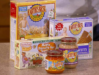 Organic baby food is great for your children's health.