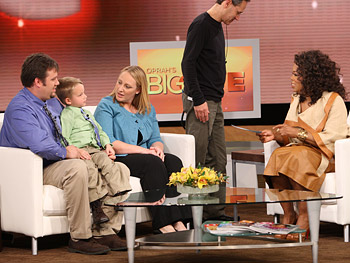 Oprah with Drew and his parents