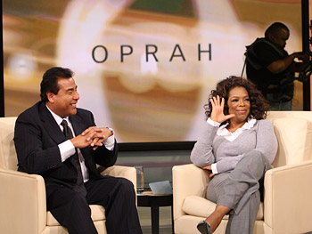 John Quinones and Oprah