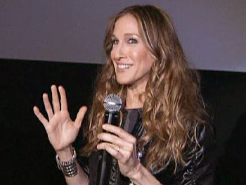 Sarah Jessica Parker introduces the film at a screening.