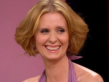 Cynthia Nixon talks about her relationship with a woman.