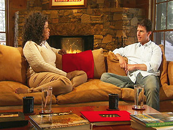 Oprah and Tom Cruise talk in his Telluride, Colorado, home.