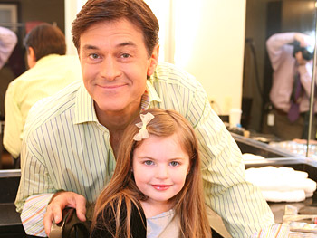 Dr. Oz spends time with Bailie.