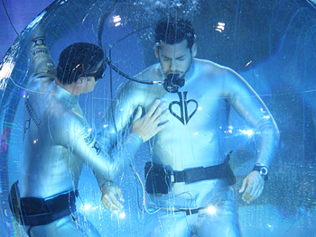 David Blaine inhales pure oxygen.
