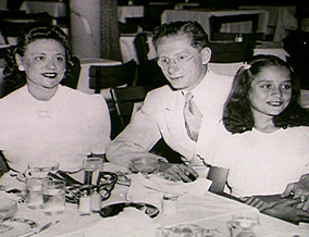 Barbara Walters with her parents, Lou and Dena