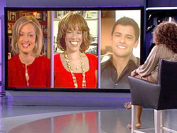 Ali Wentworth, Gayle King and Mark Consuelos