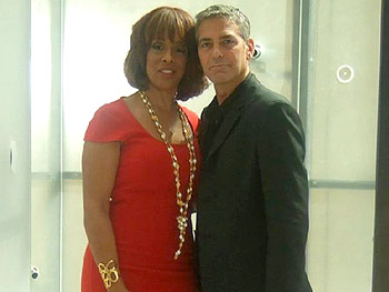 Gayle danced with George Clooney