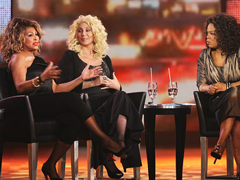 Tina Turner and Cher discuss their divorces.
