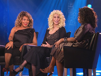 Tina Turner and Cher discuss dating.