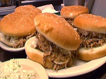 Allen & Son's chopped pork sandwich